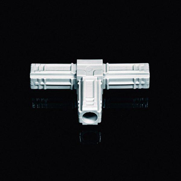 T-Piece Connector 25mm Grey