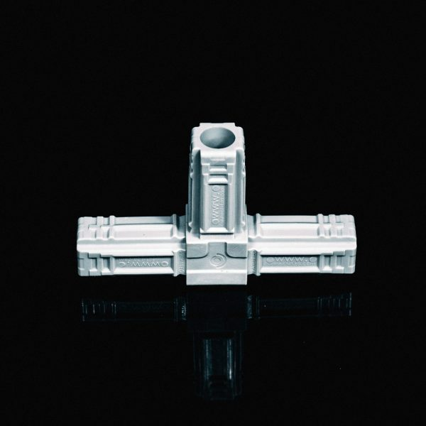 T-Piece Connector 25mm Grey