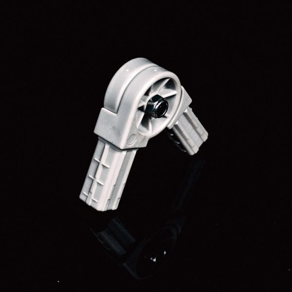 Square Adjustable Connector 2-Way 25mm Grey