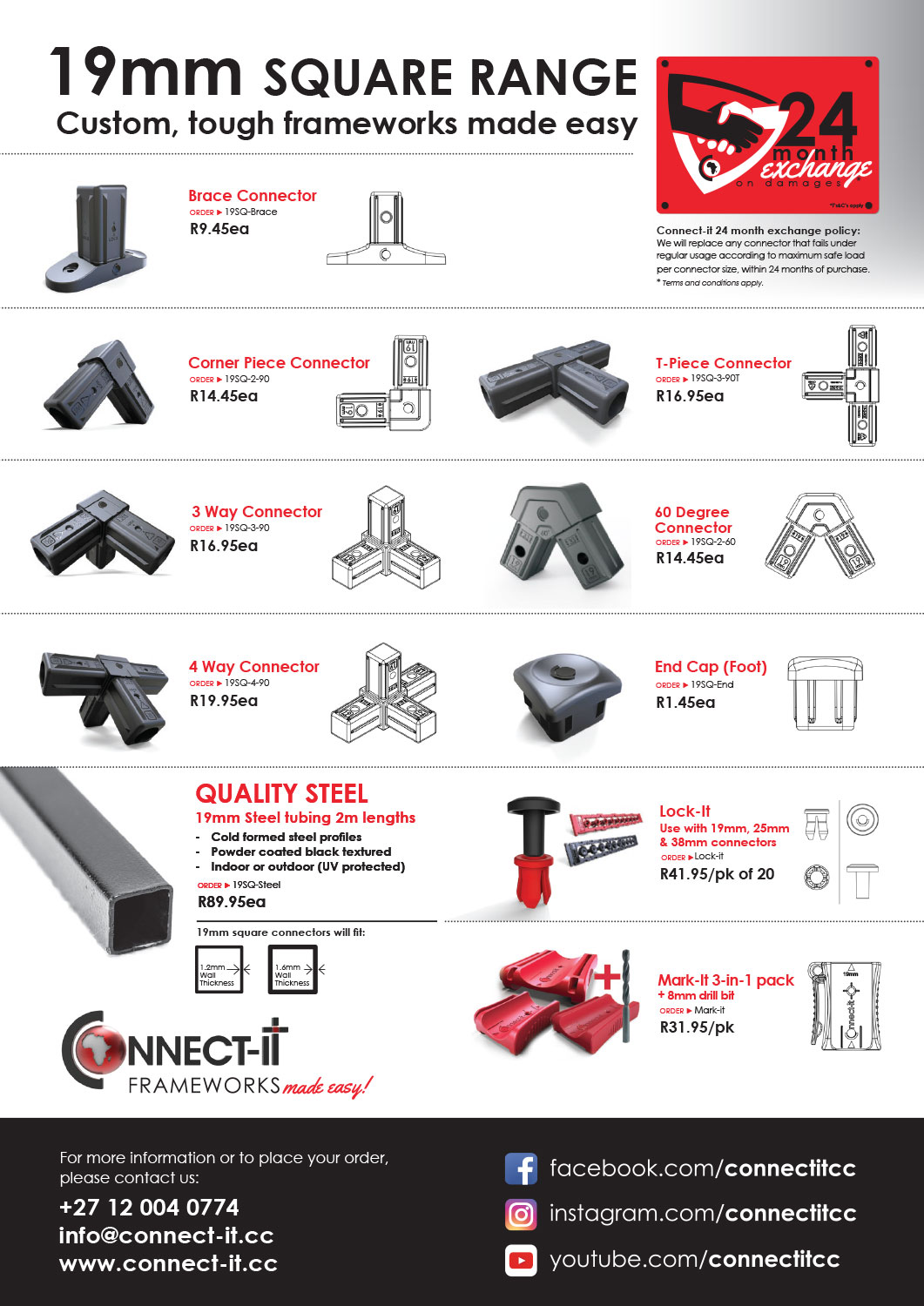 Connect-it | 2019 Price List and Catalogue | Frameworks made easy