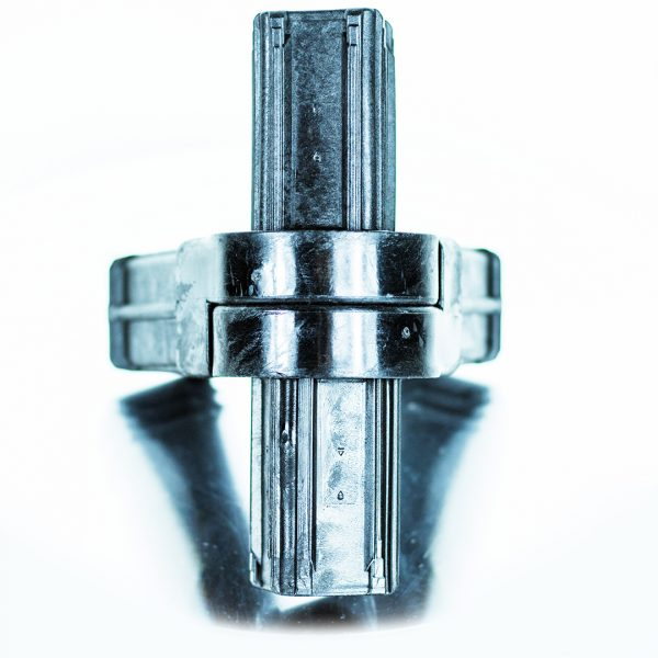 Connect-it Square Adjustable Connector 4-Way 38mm